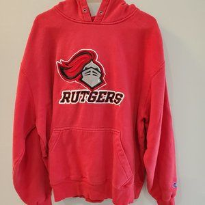 Champion Hoodie Rutgers University Red Size XL